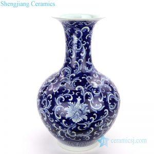 RZQH01 Qing dynasty Kangxi emperor style lotus porcelain vase