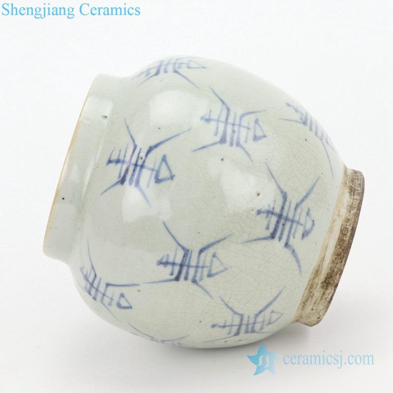 Chinese totem pottery vase