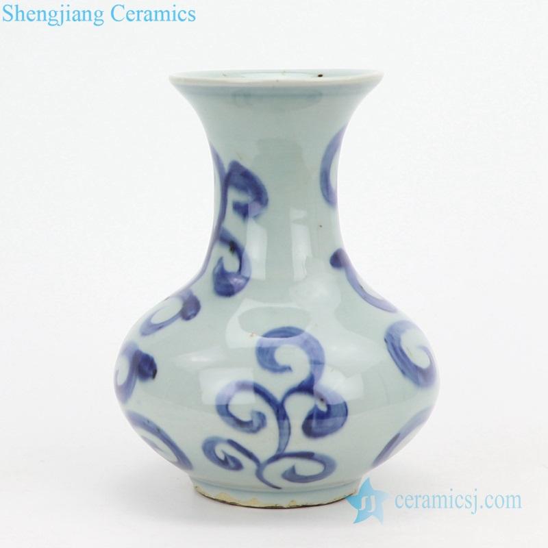 Rococo pattern ceramic vase