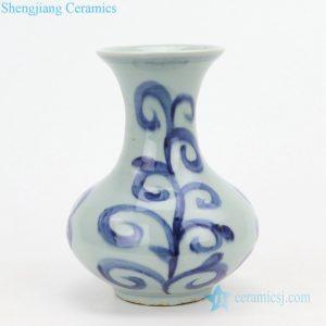 RZQJ02 Rococo pattern ceramic mini vase