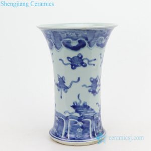 RZQJ04 Hand drawing wide open mouth ceramic vase