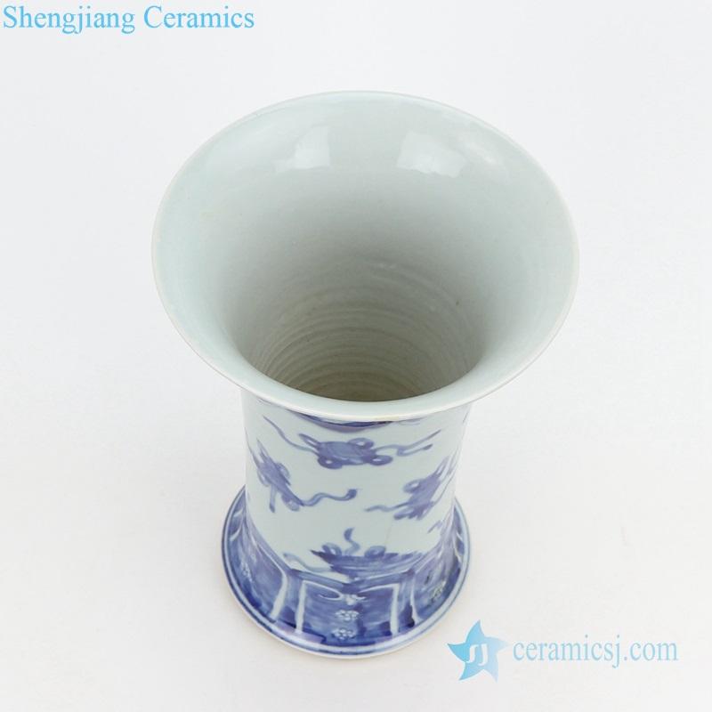 wide open mouth ceramic vase