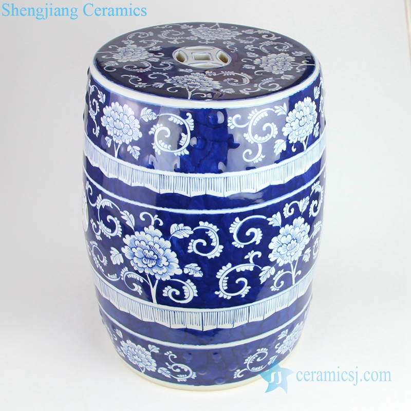 porcelain blue and white stool