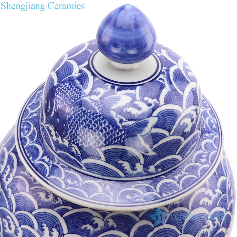 ceramic ginger jar with lid
