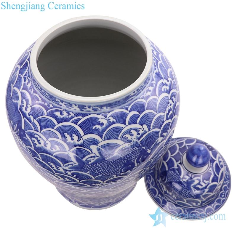 hand painted porcelain ginger jar