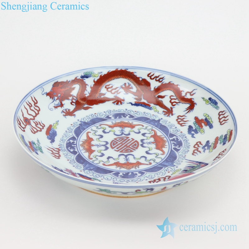 Dragon and Phoenix ceramic plate