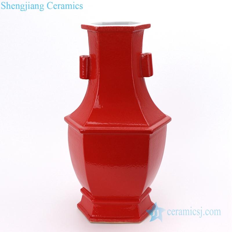 antique red glazed vase