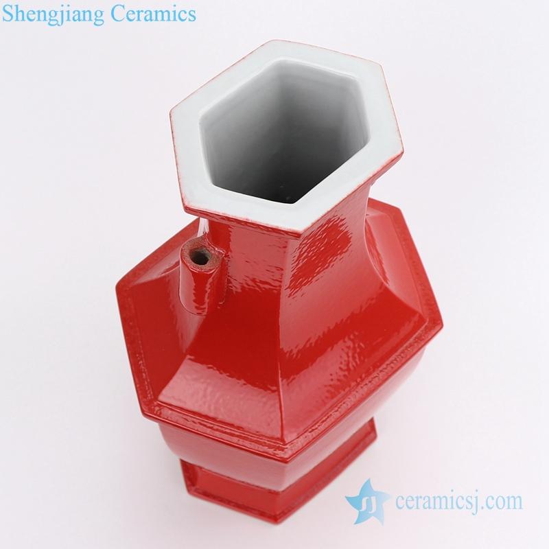 square ceramic vase with handle
