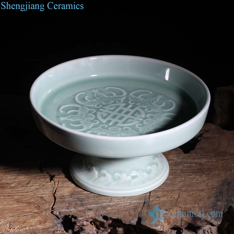 handcraft carving ceramic plate