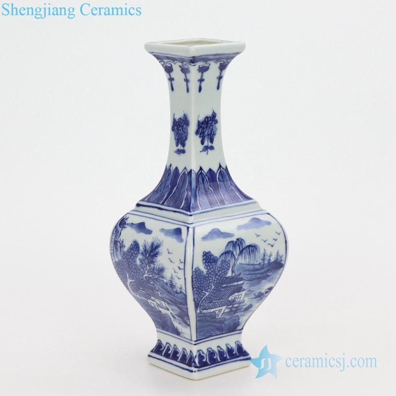 side view porcelain vase