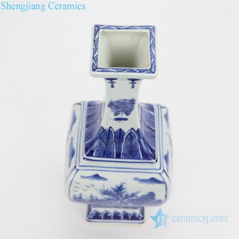 Top view porcelain vase