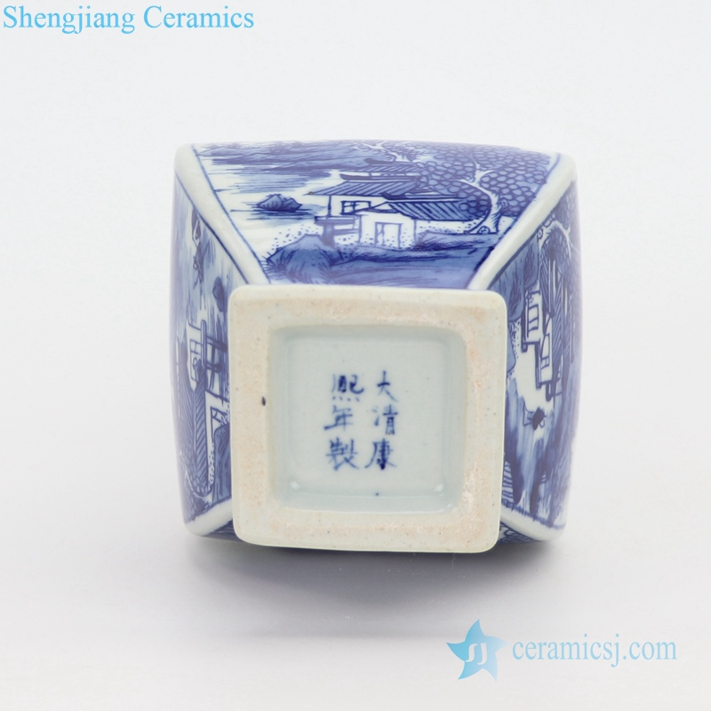 bottom view porcelain vase