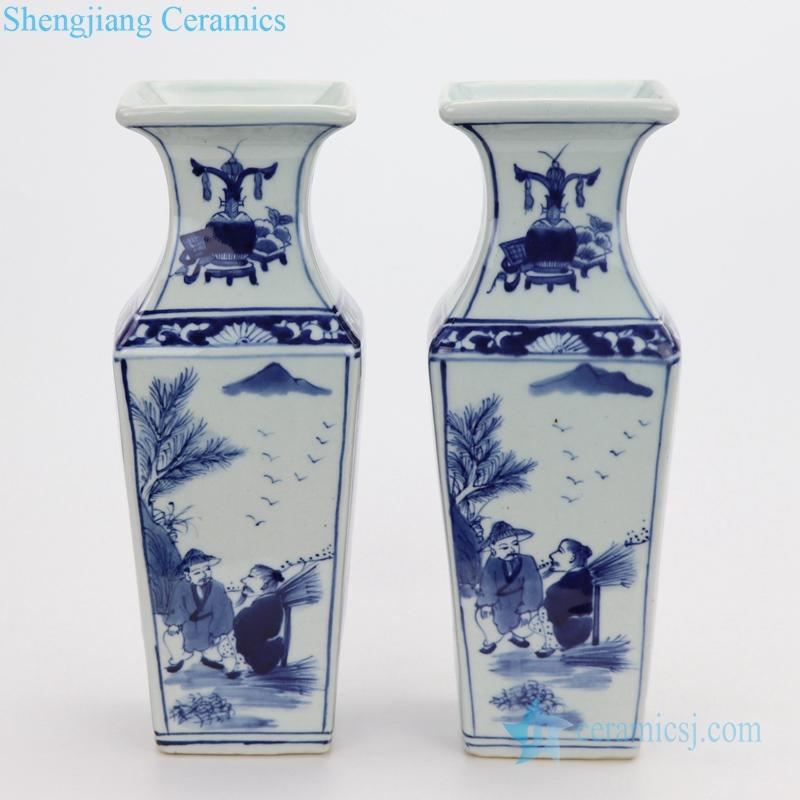 ceramic figure painting vase