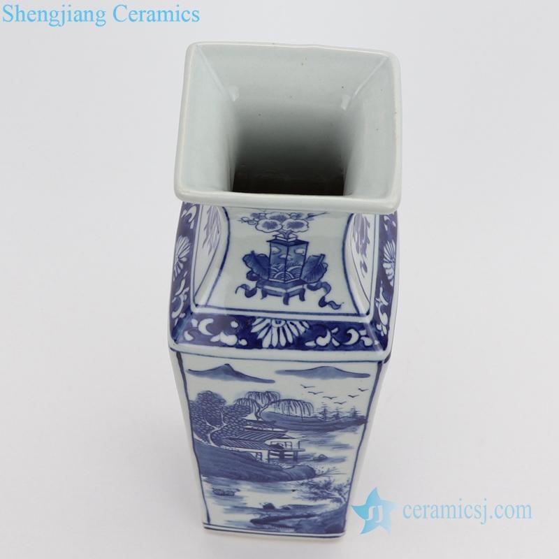 stop view,landscape painting vase