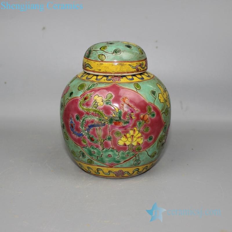 Chinese colorful ceramic jar