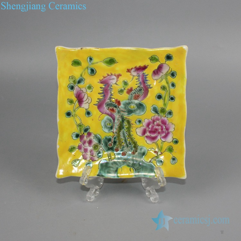 Chinese colorful ceramic plate
