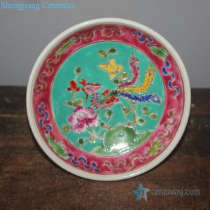 RYZG28 Chinese style traditional famille rose hand painted porcelain fruit plate