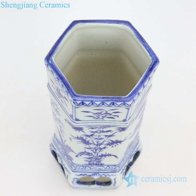 plant painting ceramic vase