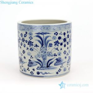 RZFH18 Jingdezhen blue and white porcelain pencil vase
