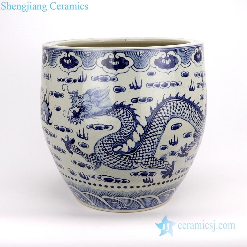 Chinese dragon ceramic vat storage tank