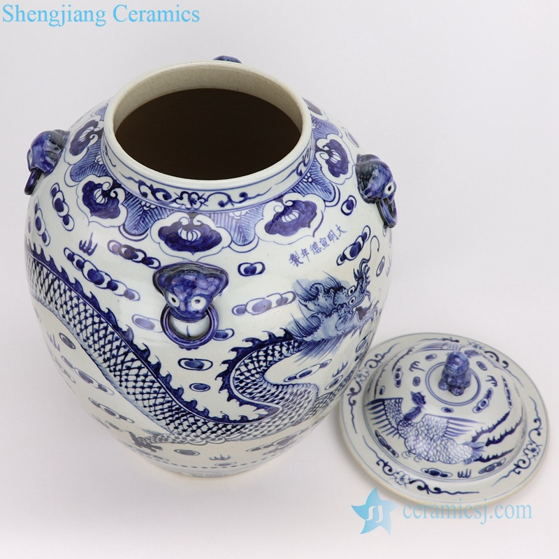 traditional chinese style Ceramic jar with lid