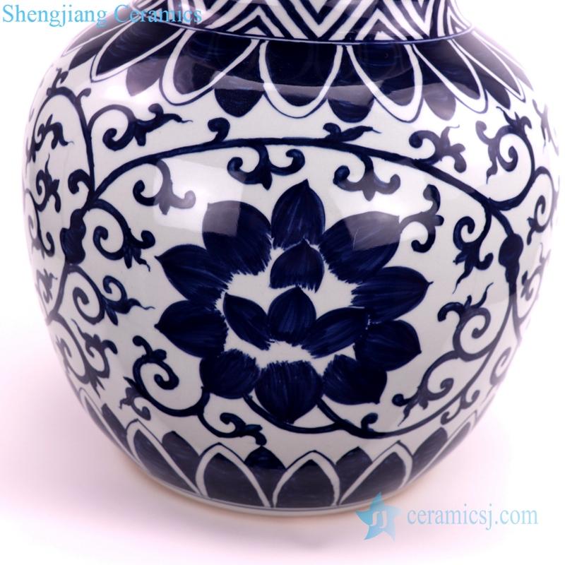 gourd-shaped ceramic vase porcelain detail