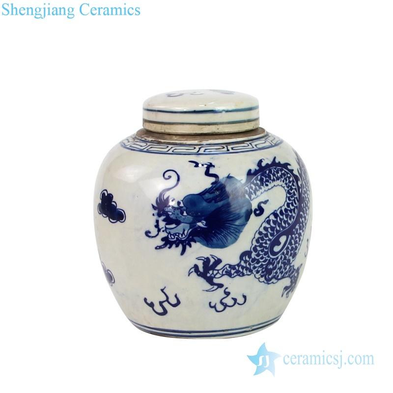 Chinese dragon ceramic jar storage tank