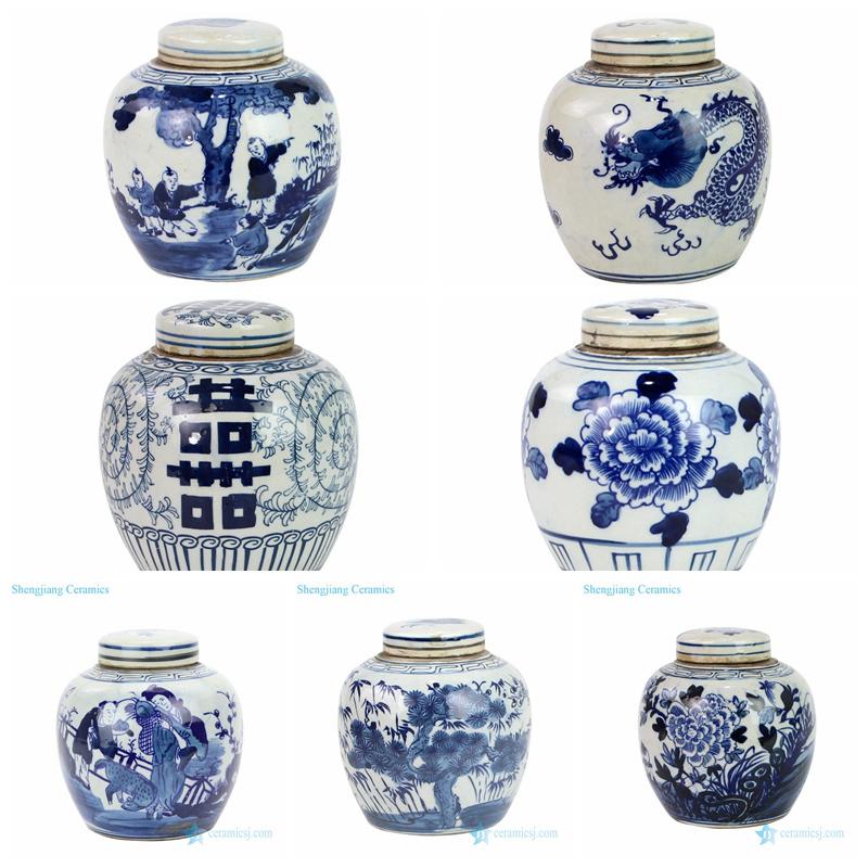 small ceramic tea jar with lid
