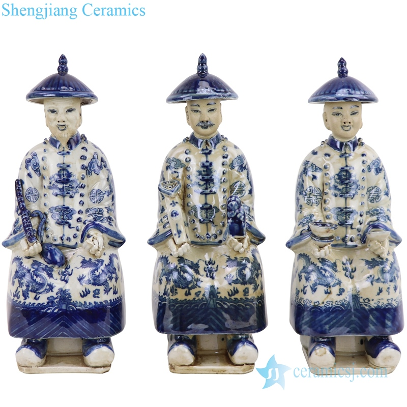 Qing dynasty emperors statue