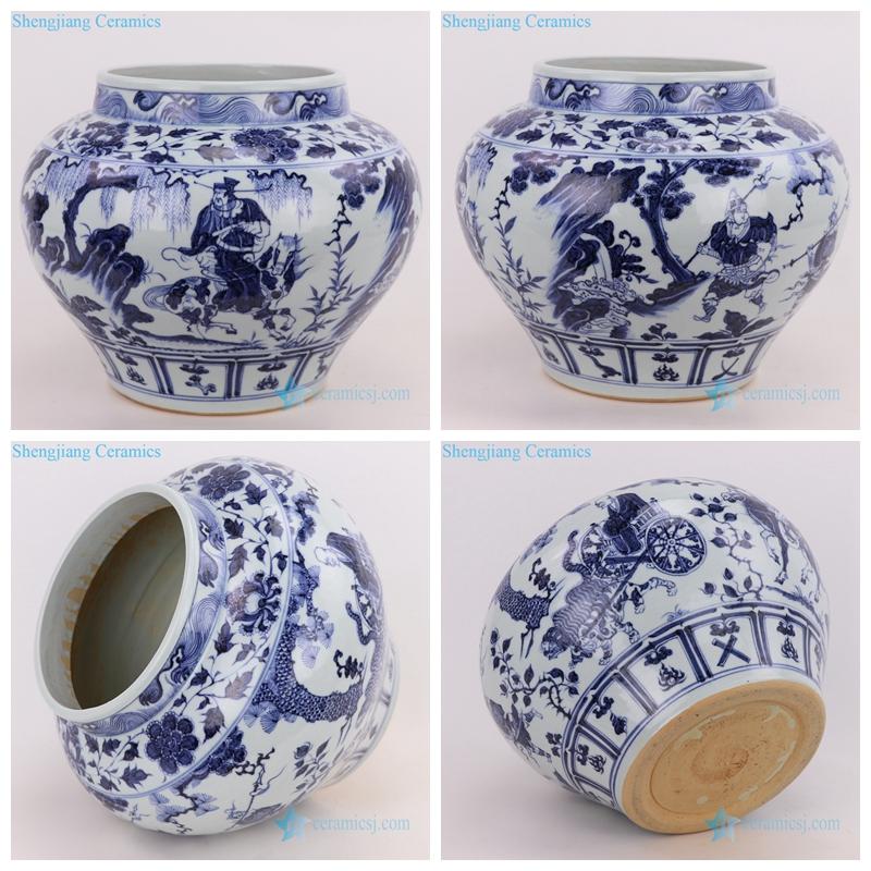 figures painting ceramic vase