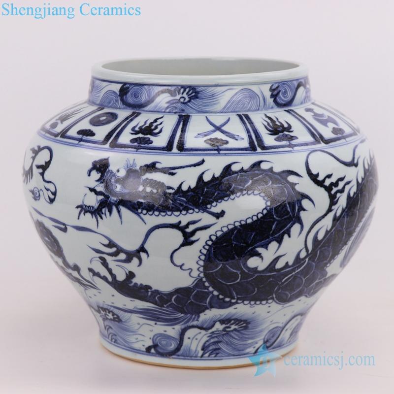 dragon ceramic vase