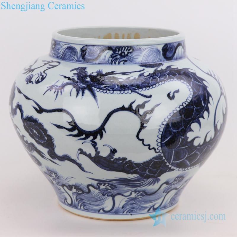 sea dragon porcelain vase