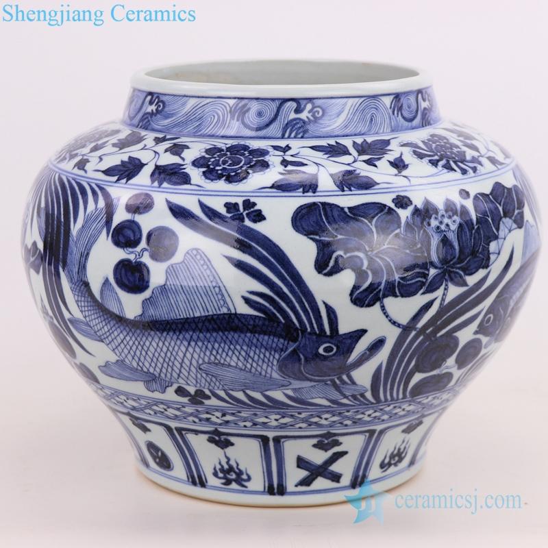 fish porcelain vase