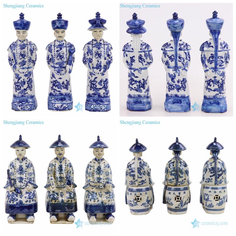 China emperors ceramic statue