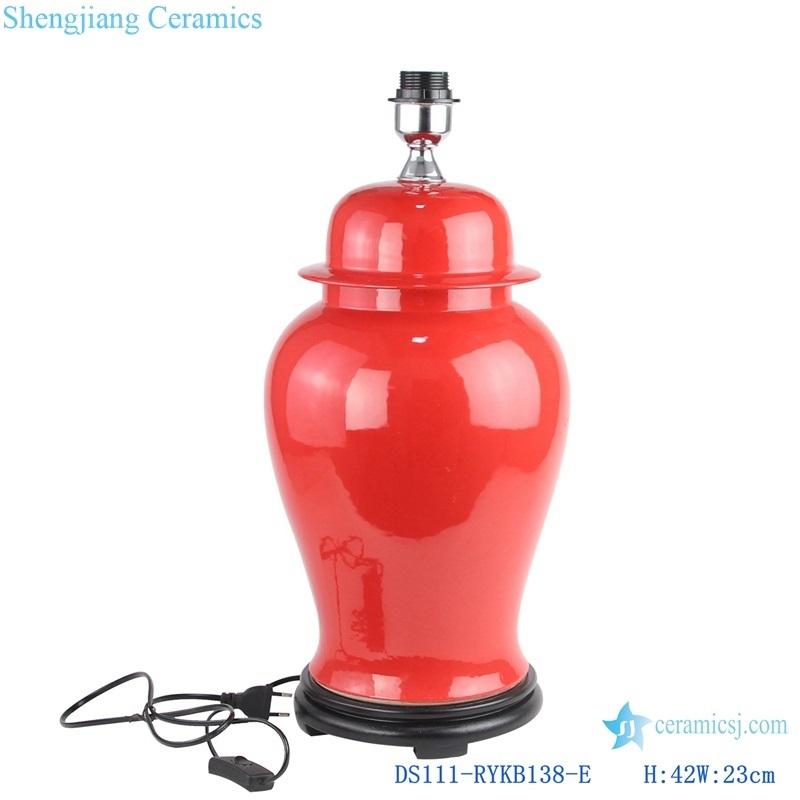 Jingdezhen Colour glaze wine red ceramic lamp