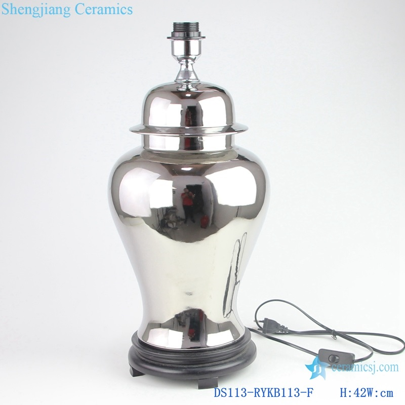 Jingdezhen Silver plated ceramic general tank lamp