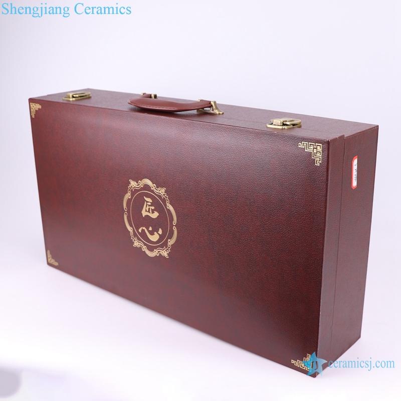 Jingdezhen enamel color wine packaging box