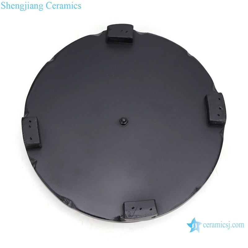 Matte black 7 inch round base bottom