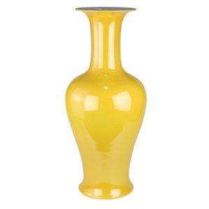 RYNQ256 Jingdezhen Antique turmeric glaze plain yellow porcelain vases vials