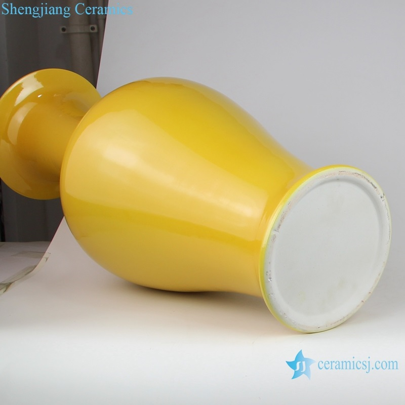 Jingdezhen Antique yellow porcelain vases