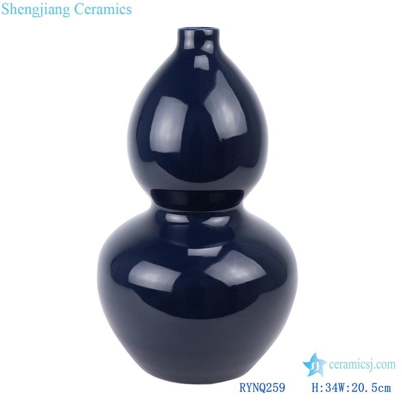 Jingdezhen Deep blue ceramic gourd vase