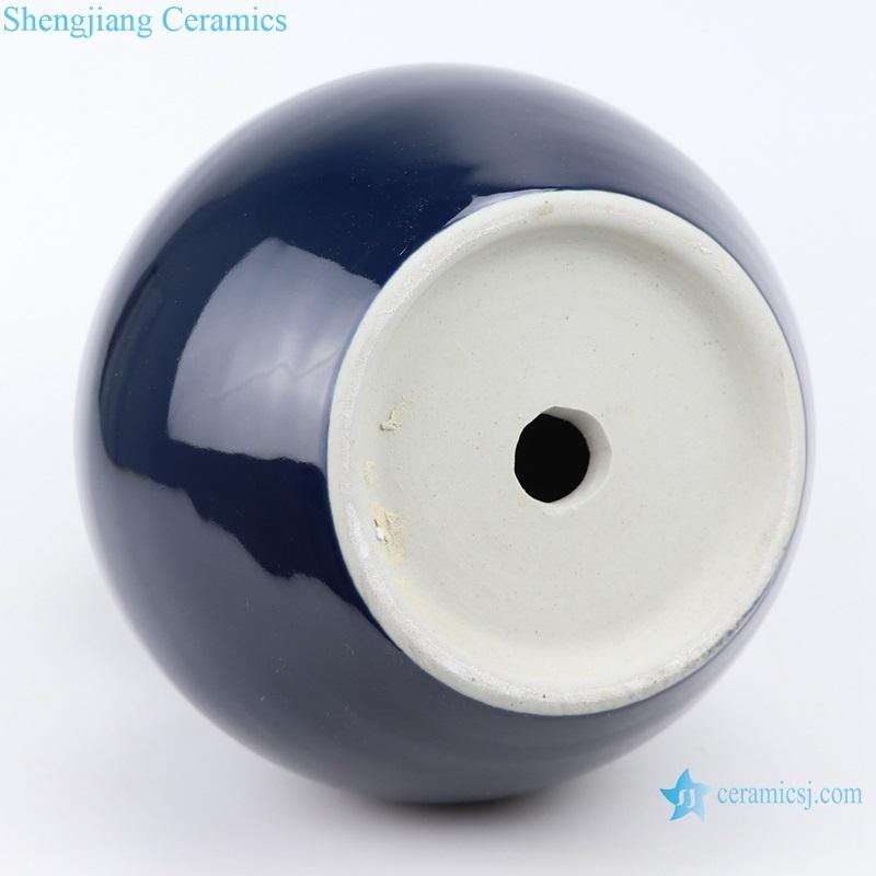 Jingdezhen Deep blue ceramic bottom