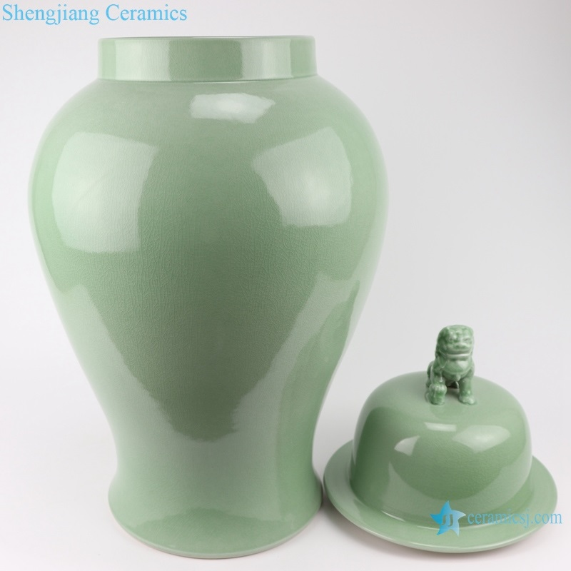 glaze lion head lid general pot front