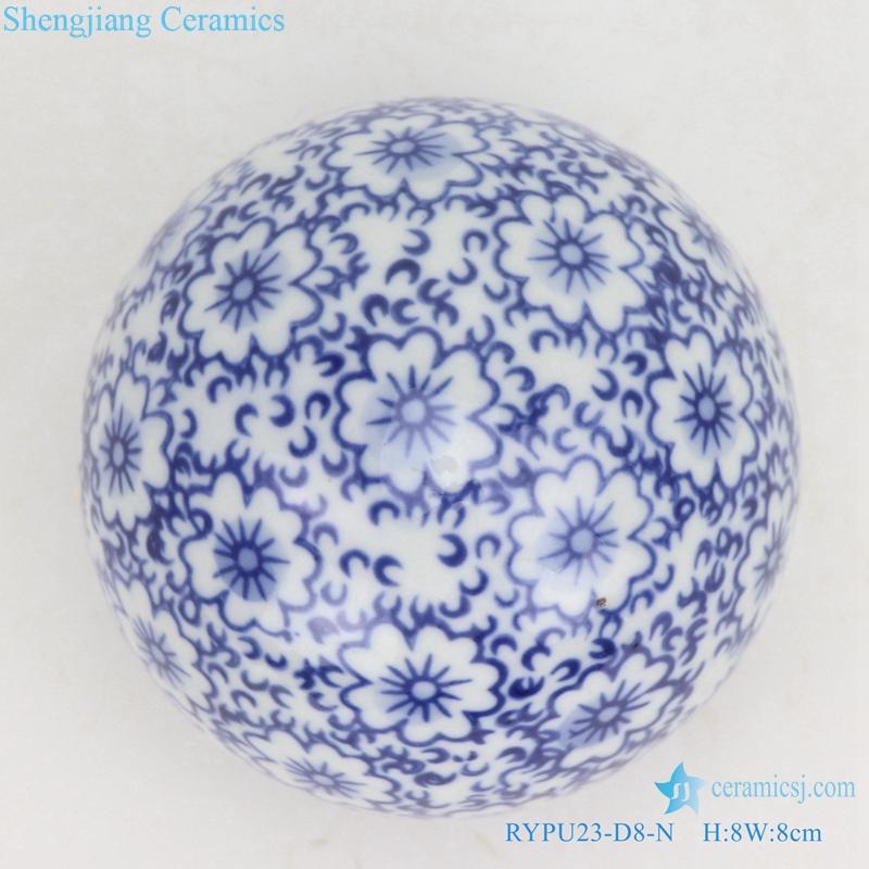 shengjiang chinese style ceramic ball decorative