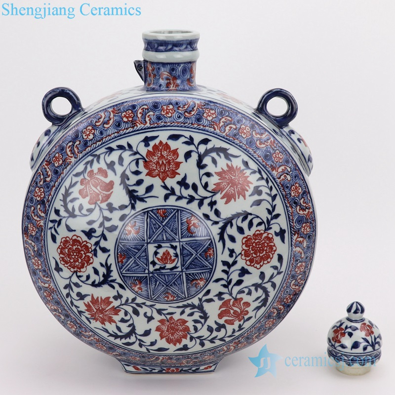 Archaize blue and white flat vase manual