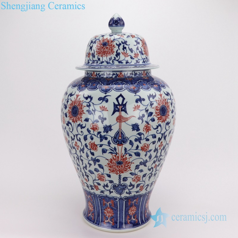vases red porcelain hand-painted POTS