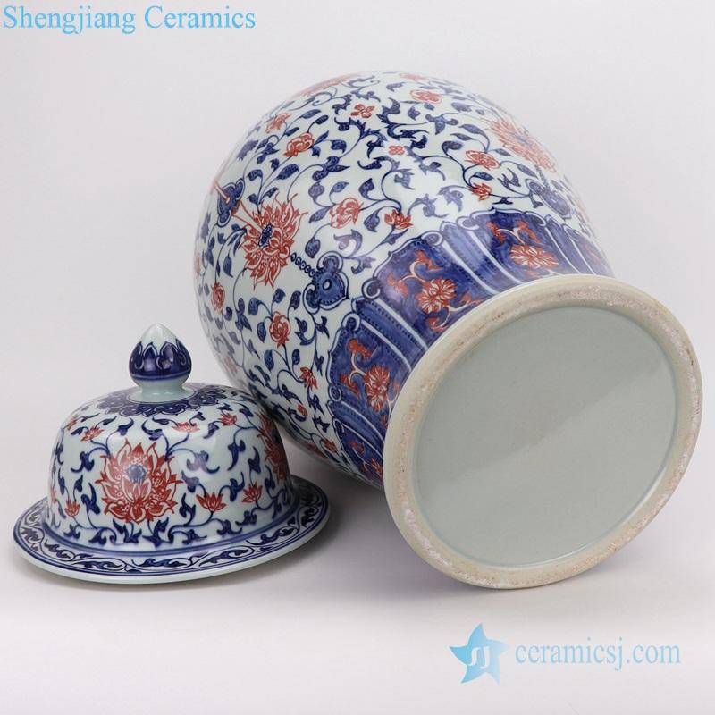chinese style storage pot blue and white ceramic
