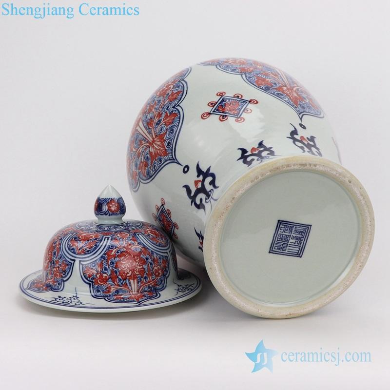 chinese Porcelain vases red flower ceramic