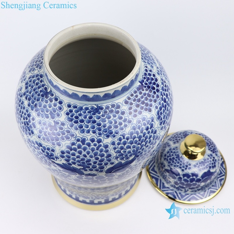 chinese Archaize blue and white general pot