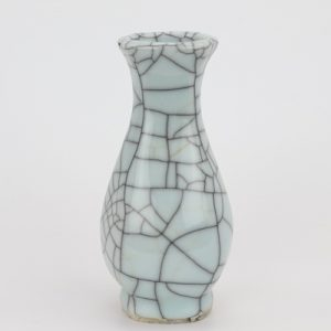 RYXC18-I Longquan celadon geyao crack glaze wire grain six - sided flat pot vase small vase